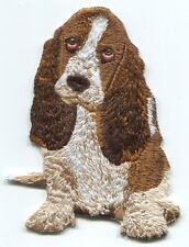 DOG basset hound EMBROIDERED IRON-ON PATCH **FREE SHIPPING** p4320 animals puppy