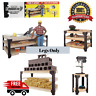 DIY Custom Workbench Legs Only Wooden Shelf Garage Shop Workshop Table Bench Kit