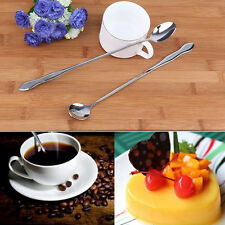 Stainless Steel 26cm Long Handle Coffee Soup Spoon Teaspoons Diningchen~