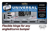 Universal License Plate Frame Mounting Kit Bracket Angled Curved Bumper Flexible
