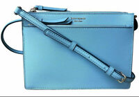 NWT Kate Spade Cameron Leather Zip Crossbody Seaside Blue WKRU5845 $229 Retail