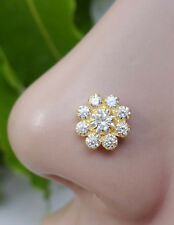 Indian Nose Stud Gold Nose Piercing Flower Nose Jewelry Mother Day Sale Nose Pin