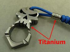 Skull Titanium Self-defense Survival escape Tool key pendant outdoor EDC+Ti Bead