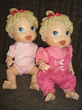 2 BABY ALIVE ALL GONE TALKING DOLL CLOTHES DIAPERS TWINS
