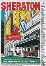 SHERATON HOTELS MONTREAL MT ROYAL HOTEL CANADA KON TIKI RESTAURANT 1959 AD