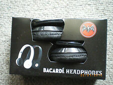 bacardi headphones black new in the box computer head phone i pod mobile phone