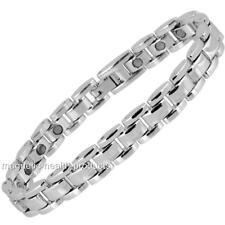 Herren Damen magnetisch Heilendes Armband silbern Armreif