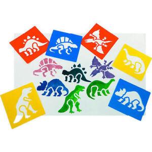 Washable Dinosaur Stencils (15 x 14 cm) 6 Different    Kids Children Arts Crafts