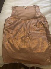 Gharani Strok Rose Gold Sequin Vest Top Size 12