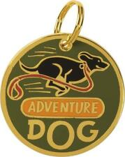 """Metal Pet Charm - """" Adventure Dog """" Dogs Pets Collar Tag  ID Charms Gift Gifts"""
