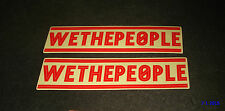 2 AUTHENTIC WETHEPEOPLE BMX BICYCLES RED STICKERS #18 / DECALS AUFKLEBER