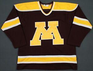 Minnesota Golden Gophers Vintage Sewn Koronis Sports Hockey Jersey Medium