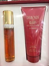 DIAMONDS AND RUBIES 2 PIECE GIFT SET BY ELIZABETH TAYLOR