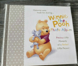 Disney Winnie The Pooh  Photo Album -Holds 60 Photos Gift Christening Baby