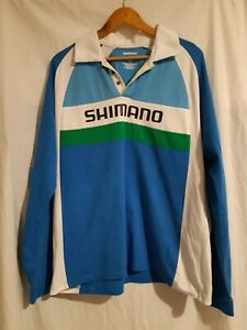 Shimano colour block rugby polo shirt size medium