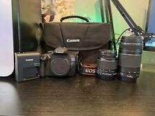 canon Eos rebel t6 Dslr Camera bundle 2 Lens Strap Battery Charger