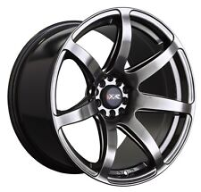 XXR 560 18x8.5 Rims 5x100/114.3 +35 Chromium Black Wheels (Set of 4)