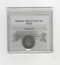 1883  Hawaii, 10 Cents , KM# 3....