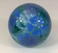 Magnum Size Caithness Periwinkle Glass Paperweight Scotland 9.5cm In Height