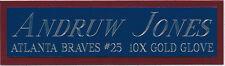 ANDRUW JONES BRAVES NAMEPLATE AUTOGRAPHED SIGNED BASEBALL-BAT-JERSEY-PHOTO-CAP