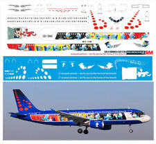 1/144 PAS-DECALS decals for AIRBUS A320 BRUSSEL AIRLINES SMURFS