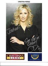 Christina Perez-- signed photo - POSE 12 - COA