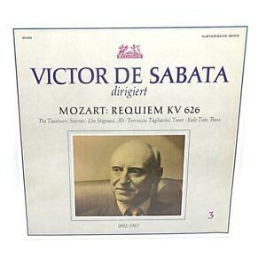 Rare Vinyl Klassik Lp Requiem Mozart Victor de Sabata Tassinari Stignani 1939 B.
