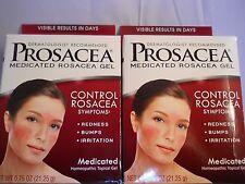 PROSACEA Rosacea Treatment Homeopathic Topical Gel, .75 oz each (2pk) exp 7-2018