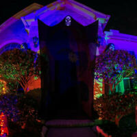 Hallo Halloween Ghost Hanging, Ghost Lights with Sound-Controlled Lighting