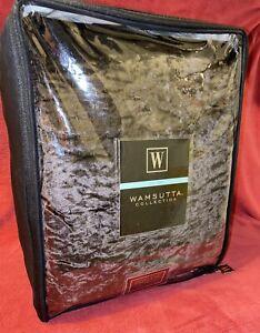 RARE Wamsutta Velvet Hand Stitched King Duvet Cover Chocolate Brown NIP