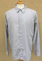 Theory Mens Long Sleeve Shirt Button Front Size 2XL