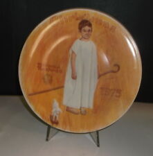 "Vintage Norman Rockwell ""Angel with a Black Eye"" 1975 Collector's Plate"