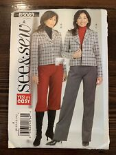 Butterick 5069 Jacket Coulottes Pants See and Sew 8 10 12 14