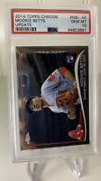 2014 TOPPS CHROME UPDATE ROOKIE MOOKIE BETTS #MB-46 PSA GEM MINT 10 😍!