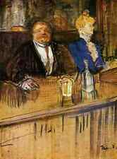 Metal Sign Toulouse Lautrec Henri De At The Cafe The Customer And The Anemic Cas