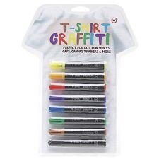 T-Shirt Graffiti Pens - 8 Fun Permanent Fabric Stationary Markers