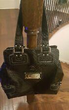100% Authentic GUESS Large Signature Logo Tote Handbag Black travel baby bag big
