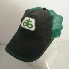 Dupont Seeds Trucker Hat Cap Mesh Woven Straw Green Black Strapback Pioneer