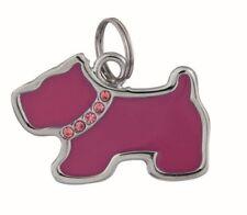 Médailles et porte-adresses rouges en métal pour chien