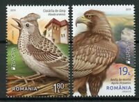 Romania 2019 MNH National Birds Europa Golden Eagles Skylark 2v Set Stamps