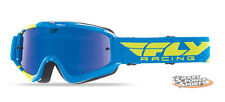 2016 Fly Racing Zone Goggle -BLUE/HI-VIS - Mirror Lens- MX DIRT ATV MTB OffRoad