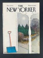 The New Yorker Magazine, November 18, 1972 ~ Getz ~ COVER ONLY