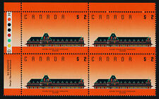 Canada 1182 TL Block Plate 1 MNH McAdam Railway Station, Architecture