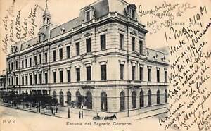 BUENOS AIRES ARGENTINA~ESCUELA del SAGRADO CORRAZON~1901 POSTCARD