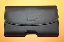 For iphone 5S 5C SE BIG Black Leather Holster Pouch Case Cover Belt CliP loop