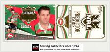2006 Select NRL Invincible League Leaders CC13 P. Cussack + Rabbitohs Predictor