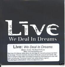 live-we deal in dreams   promo cd