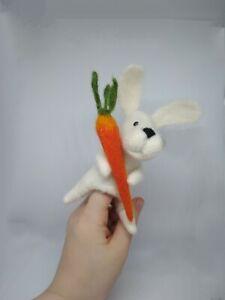 Hare finger toy. Mini bibabo