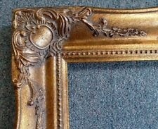 Picture Frame-12x16 Vintage Antique Style Baroque Dark Gold Museum Bronze 512C