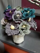 Create And Craft Diy Tonal Flower Kit makes 9 burlap flowers. New in Package